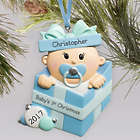 Personalized Special Delivery Boy Ornament