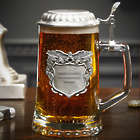 Land of the Brave Personalized Military Glass Beer Stein
