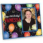Personalized Happy Birthday Balloons Picture Frame