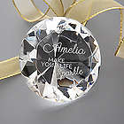 Make Your Life Sparkle Engraved Diamond Paperweight