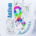 Personalized Autism Ribbon Awareness Hooded Sweatshirt