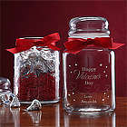 Personalized Be My Sweet Candy Jar With Hershey's Kisses