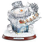 The Gift of the Holidays Crystal Snowman
