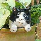 Ceramic Cat Potted Plant Buddy