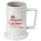 Personalized Vegas Bachelor Party Beer Stein