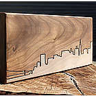 Famous City Skyline Wooden Routing Plaque