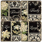 Family, Friends, Live, Laugh Marble Coaster Set