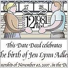 Dedicate a Day - Personalized Newborn Certificate