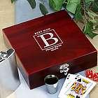 Engraved Groomsmen Poker Flask Set