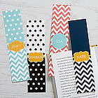 4 Personalized Preppy Chic Paper Bookmarks