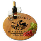 Personalized Chateau 2 Oak Barrel Lazy Susan
