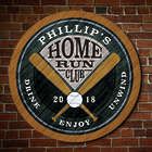 Personalized Home Run Club Bar Sign