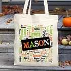 Halloween Word Art Tote Bag