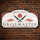 Personalized Official Grill Master BBQ Wall Sign