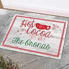 Personalized Hot Cocoa This Way Doormat