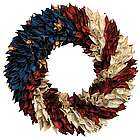 American Flag Floral Wreath