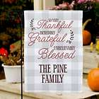 Thankful Grateful Blessed Personalized Garden Flag
