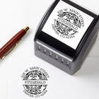 Circle Damask Greetings Self-Inking Address Stamper