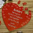 Personalized Floating Heart Puzzle