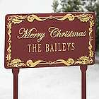 Personalized Merry Christmas Yard Sign