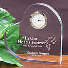 In Our Hearts Forever Memorial Heart Clock