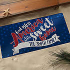Land of the Free Personalized July 4th Oversized Doormat