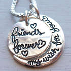 Friends Forever My Wish for You Silver Fashion Necklace