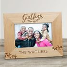 "Personalized Gather Here 5"" x 7"" Wood Frame"