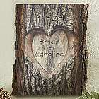 So in Love Personalized Basswood Wall Plaque