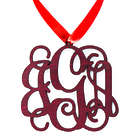 Personalized Solid Wood Monogram Ornament