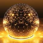 "5"" Starry Points of Light Mercury Glass Sphere"