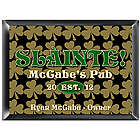 Personalized Field of Shamrocks Pub Sign