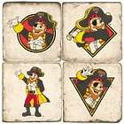 Pittsburgh Pirates Pirate Mascot Italian Marble Coasters