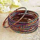 Indian Silk Wrapped Bracelets