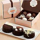Dipped Mini Cheesecake Trio & 18 Assorted Cake Truffles Gift Box