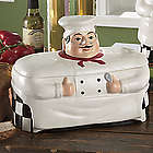 White Chef Breadbox