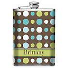Personalized Polka Dot Bridesmaid Flask