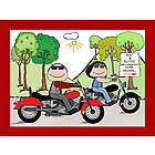 Personalized Two Motorcycle Riders Cartoon
