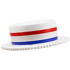 Styrofoam Patriotic Skimmer Hat