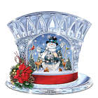 Thomas Kinkade Crystal Snowman Top Hat with Music and Lights