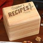 Her Recipes Personalized Recipe Box