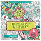 Blooms, Birds, and Butterflies Coloring Book