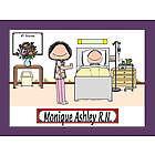 Personalized Hospital Nurse Cartoon Print