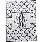 Monogrammed Banner Lattice Design Blanket