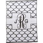 Monogrammed Banner Lattice Design Blanket