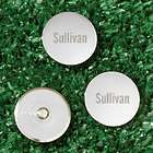 3 Personalized Silver Golf Markers