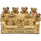 Personalized Bear Family in Chair Keepsake