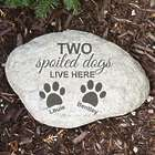 Personalized Spoiled Dogs Garden Stone
