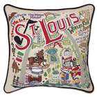 Hand Embroidered CatStudio St. Louis Pillow