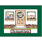 Personalized New Home Family Cartoon